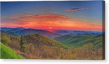 Pink Sunrise At Skyline Drive Canvas Print