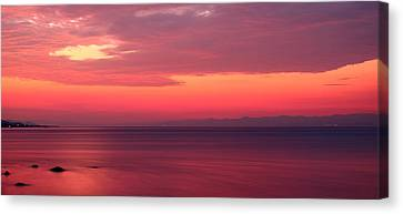 Pink Sunrise  Canvas Print by Leyla Ismet