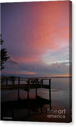 Canvas Print featuring the photograph Pink Sunset by Tannis  Baldwin