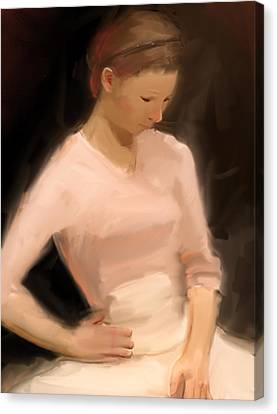 Pink Sweater Canvas Print