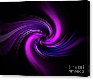 Pink Swirl Canvas Print by Trena Mara