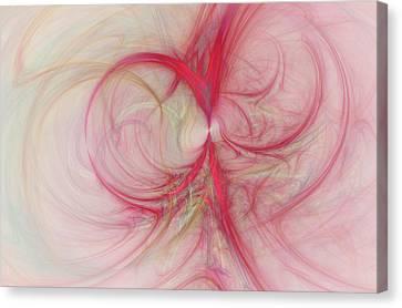 Pink Swirls Canvas Print by David Ridley