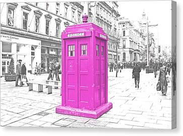 Pink Tardis  Canvas Print by Rob Hawkins