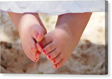 Pink Toes Canvas Print