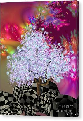 Pink Tree Canvas Print by Susanne Baumann