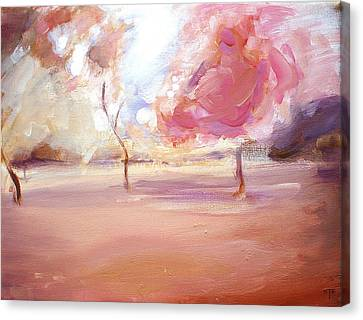 Pink Trees Canvas Print by Tanya Byrd