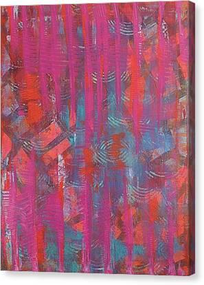 Pink Veil Canvas Print by Debra Jacobson