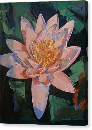 Water Lillies Canvas Print - Pink Water Lily by Michael Creese