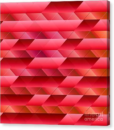 Pinkish Red Abstract Canvas Print by Gaspar Avila