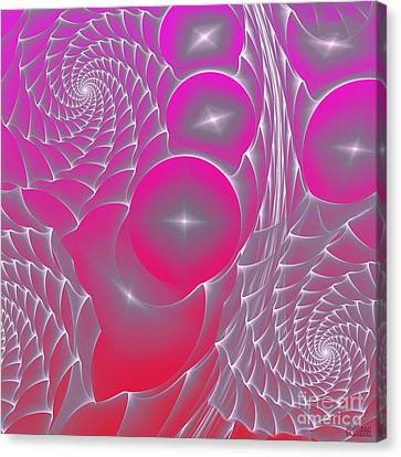 Canvas Print featuring the digital art Pinky Space by Hanza Turgul