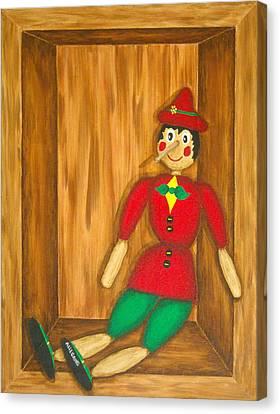 Juvenile Art Canvas Print - Pinocchio by Pamela Allegretto