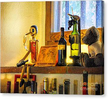 Pinocchio All Grown Up Canvas Print by Jennie Breeze