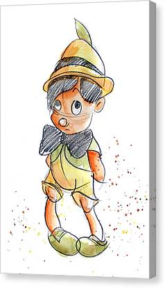 Children Canvas Print - Pinocchio by Andrew Fling