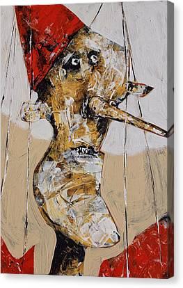 Pinocchio No. 2  Canvas Print by Mark M  Mellon
