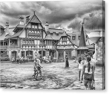 Canvas Print featuring the photograph Pinocchio's Village Haus by Howard Salmon