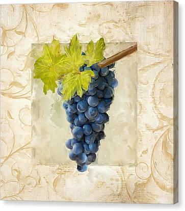 Purple Grapes Canvas Print - Pinot Noir II by Lourry Legarde