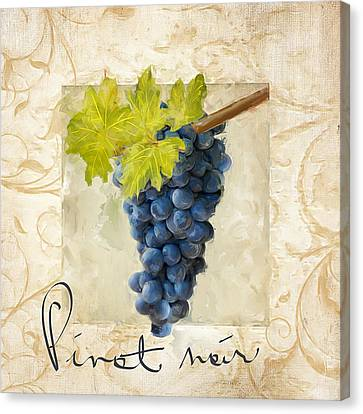 Pinot Noir Canvas Print by Lourry Legarde