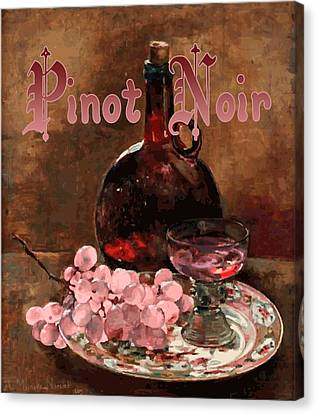 Pinot Noir Vintage Advertisement Canvas Print by