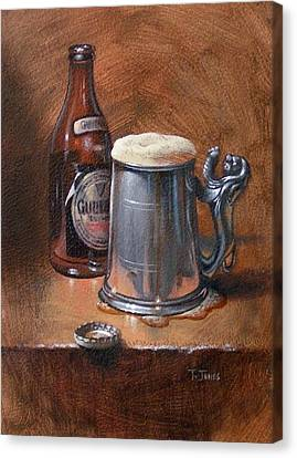 Pint Of Guinness Canvas Print by Timothy Jones