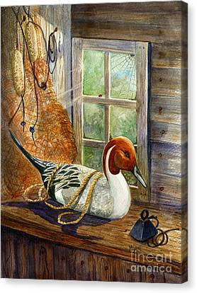 Pintail Duck Decoy Canvas Print by Marilyn Smith