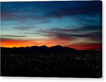 Pintler Sunset  Canvas Print by Kevin Bone