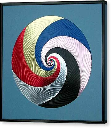 Canvas Print featuring the mixed media Pinwheel by Ron Davidson