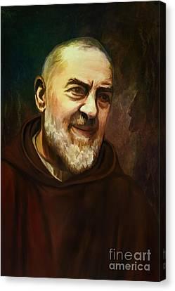 Pio Of Pietrelcina Canvas Print by Andrzej Szczerski