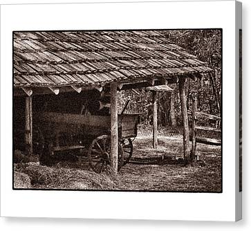 Pioneer Shed Calotype Canvas Print by Travis Burgess