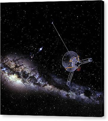 Pioneer Spacecraft In Interstellar Space Canvas Print