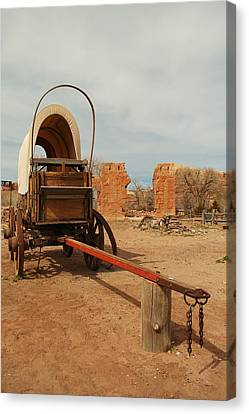 Pionner Wagon Canvas Print by Jeff Swan