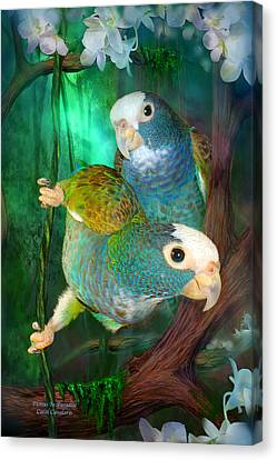 Pionus In Paradise Canvas Print