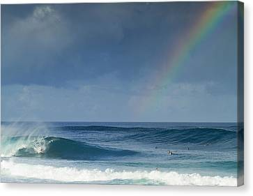 Pipe At The End Of The Rainbow Canvas Print by Sean Davey