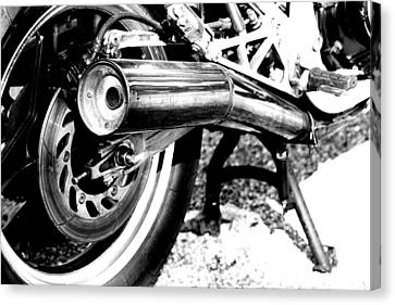 Pipe Black And White Canvas Print
