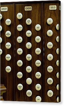 Pipe Organ Console, The Temple Canvas Print by Panoramic Images