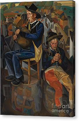 Pipe Players Canvas Print by Celestial Images
