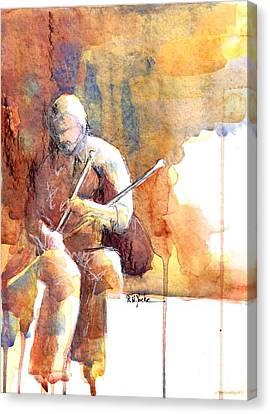 IRISH PIPER UILLEANN BAGPIPES IRELAND *CANVAS ART PRINT