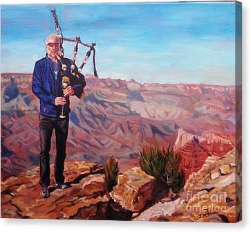 Piping At The Grand Canyon Canvas Print