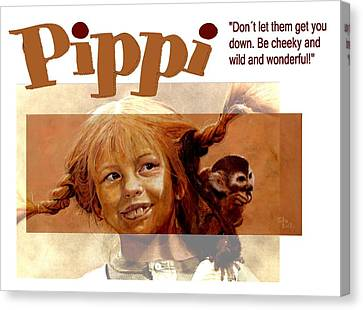 Mothersday Canvas Print - Pippi Longstocking - Quote by Richard Tito