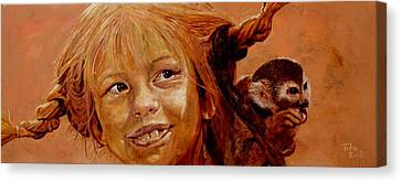 Pippi Longstocking Canvas Print by Richard Tito