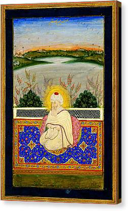 Pir Dastgir From The Mughal Era Canvas Print by Celestial Images