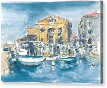 Piran - Tartini Theatre Canvas Print by Marko Jezernik