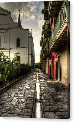 Chrystal Canvas Print - Pirate Alley by Greg and Chrystal Mimbs
