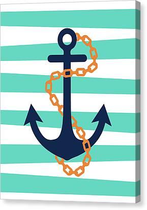 Pirate Anchor II Canvas Print by Tamara Robinson