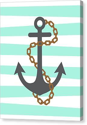Pirate Anchor Canvas Print by Tamara Robinson