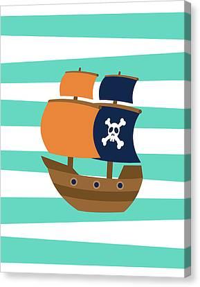 Pirate Ships Canvas Print - Pirate Boat II by Tamara Robinson