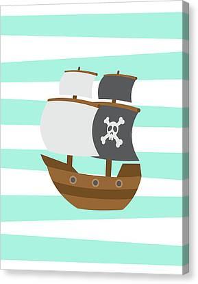 Pirate Boat Canvas Print by Tamara Robinson