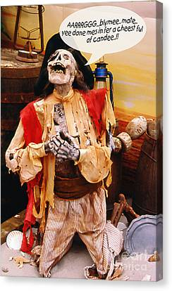 Canvas Print featuring the photograph Pirate For Halloween by Gary Brandes