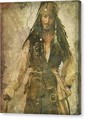 Pirate Johnny Depp - Steampunk Canvas Print by Absinthe Art By Michelle LeAnn Scott