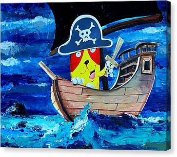 Pirate Kitty Canvas Print by Scott Nelson