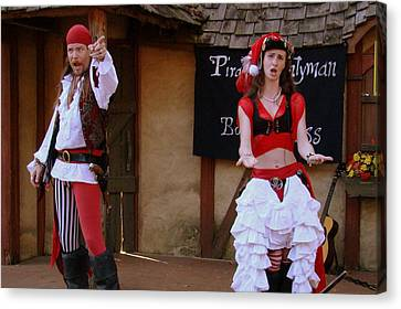 Pirate Shantyman And Bonnie Lass Canvas Print by Rodney Lee Williams